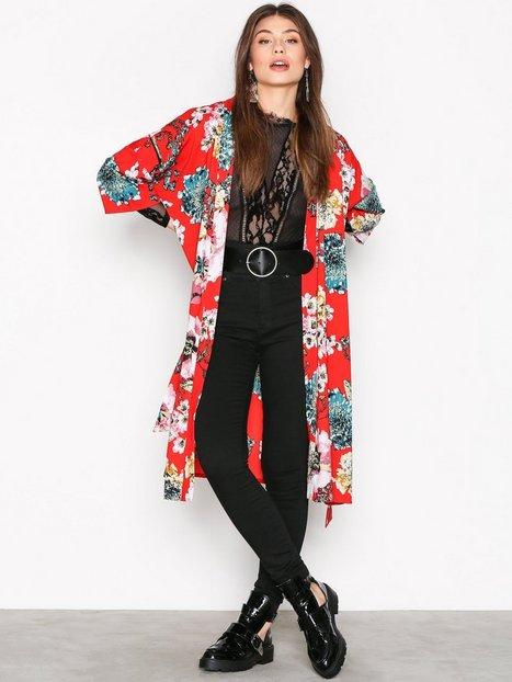 Billede af Only onlKATEHRINE Aop Kimono Wvn Kimono Mørkerød