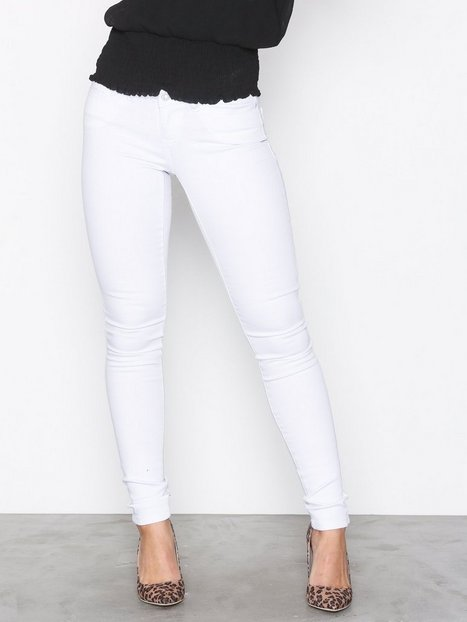 Noisy May Nmeve Lw S.Slim Jeans White GU501 N Slim Vit thumbnail