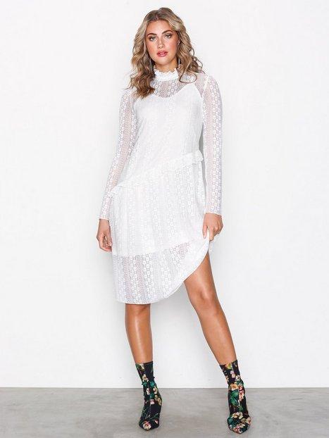 Billede af Pieces Pcfilly Ls Lace Dress Ff Loose fit Hvid