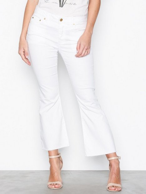 Michael Michael Kors Cropped Kick Dyed Pant Slim White thumbnail