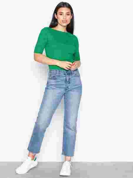Sleeve Judy Knit Elbow Tops Green Lauren Ralph TaF5qwa