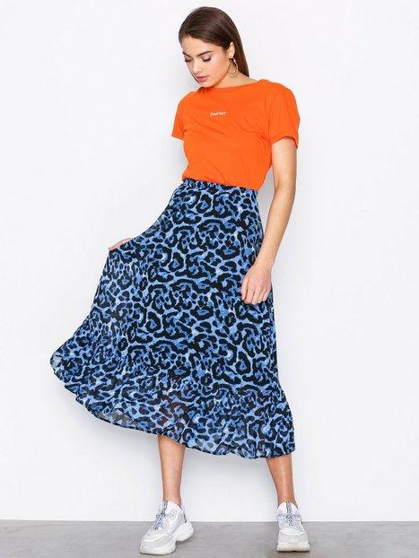 Billede af Pieces Pcdimona Midi Skirt Pb Midi nederdele Blå