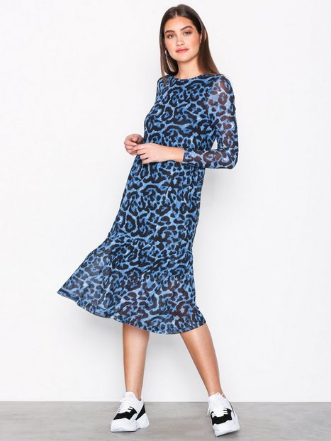 Billede af Pieces Pcamelia Ls Mesh Dress Langærmede kjoler Blå