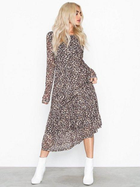 Billede af Pieces Pcamelia Ls Mesh Dress Loose fit dresses Leopard
