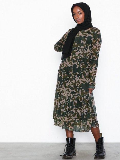 Billede af Pieces Pcamelia Ls Mesh Dress Loose fit dresses Camouflage