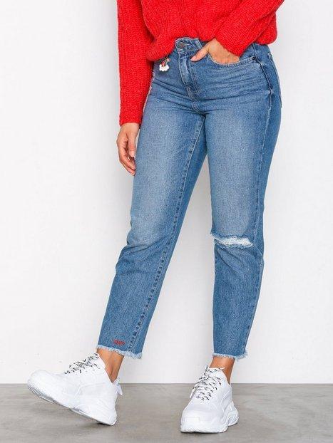 Billede af Noisy May Nmliv Nw Straight Ankle Jeans AZ01 Straight Blå
