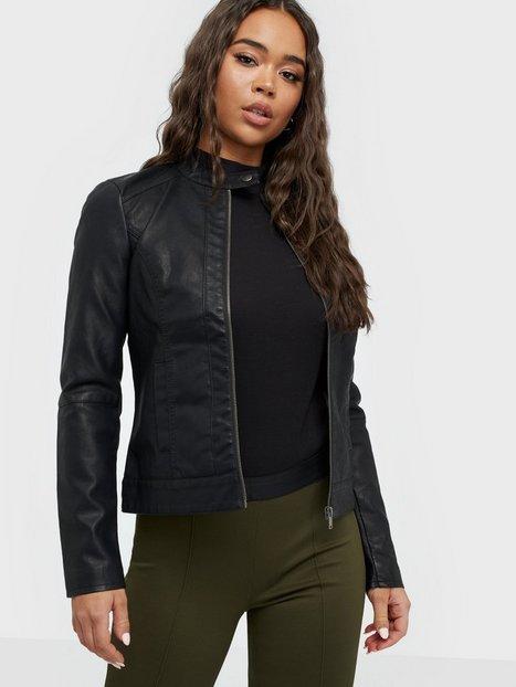 Billede af Jacqueline de Yong Jdydallas Faux Leather Jacket Otw N Læderjakker Sort