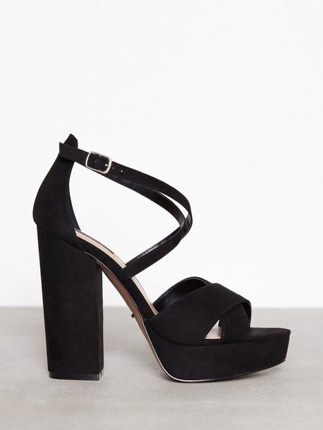 Billede af Only onlALLIE Crossed Heeled Sandal Heels Sort