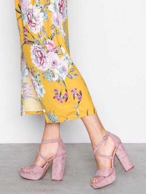 Billede af Only onlALLIE Crossed Heeled Sandal Heels Lyse lilla