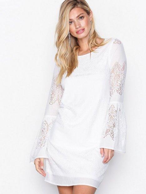 Only onlBELLA New Lace L/S Dress Wvn Pitkähihaiset mekot Valkoinen thumbnail