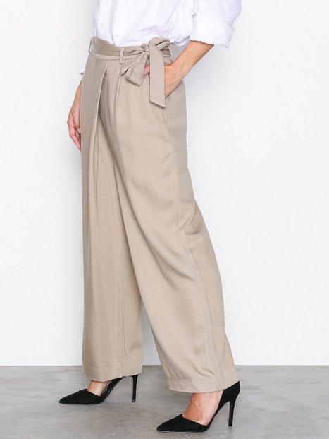 Billede af Selected Femme Sfcross Mw Wide Cropped Pant Bukser Lys Brun