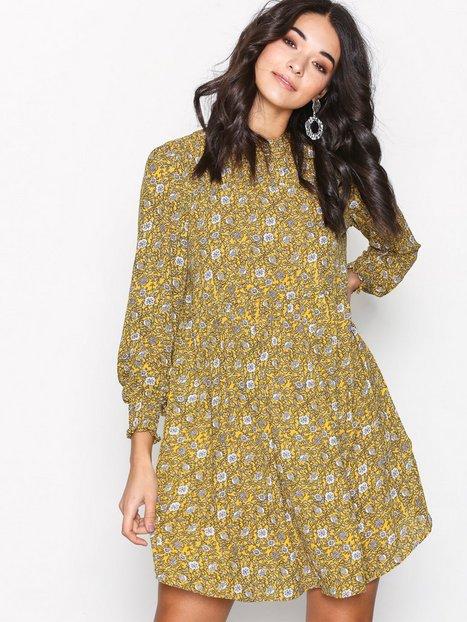 Billede af Jacqueline de Yong Jdybase New L/S Smock Dress Wvn Loose fit dresses Gul