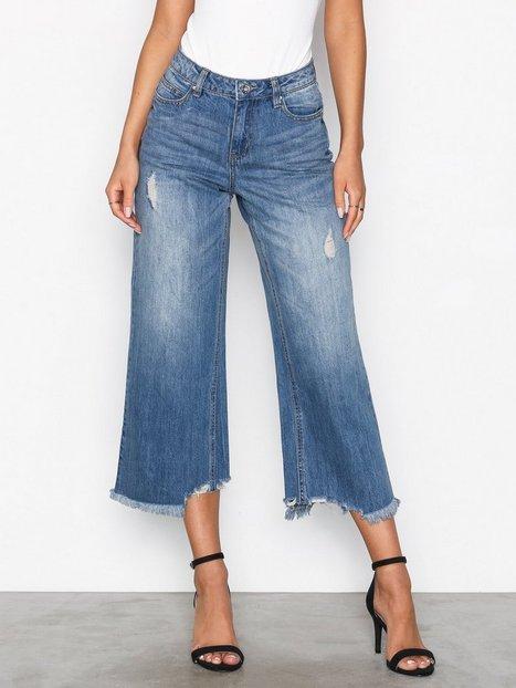 Billede af Vero Moda Vmlala Hw Boxy Ankle Jeans GU537 Straight Lyse Blå