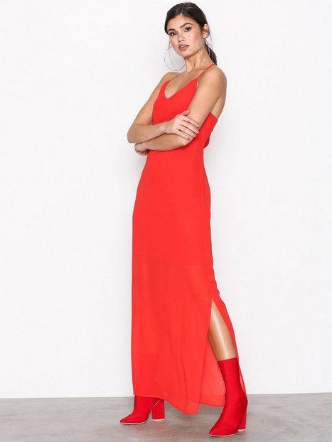 Vmdiana Long Slip Dress D2 2 Vero Moda Red Dresses