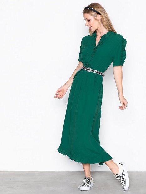 Billede af Object Collectors Item Objanny S/S Ruffle Long Dress a Sp Maxikjoler Grå