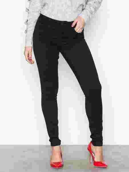 7918e4d4128374 Vmseven Nw S Shape Up Jeans Vi506 N - Vero Moda - Black - Jeans ...