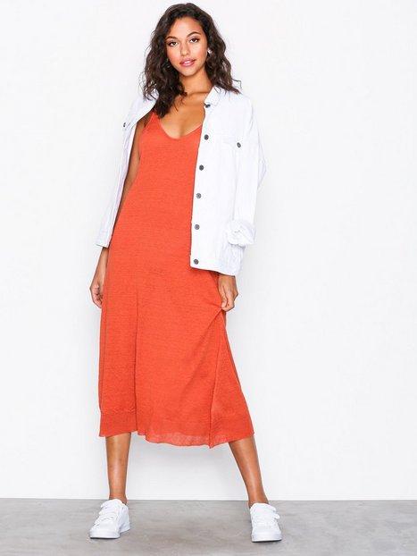 Billede af American Vintage Robe Fines Bretelles Col P2 Loose fit dresses Rust
