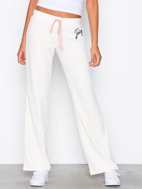 Billede af Juicy Couture Juicy Shimmer Script Velour Del Rey Pant Bukser Natural