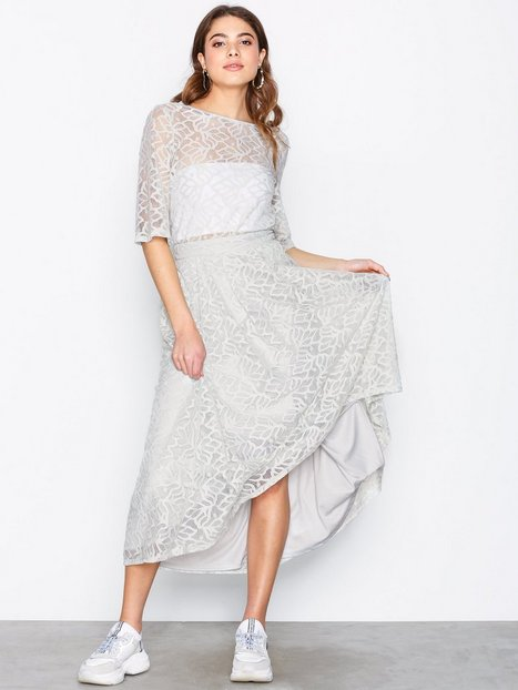 Billede af Object Collectors Item Objacel Lace Hw Skirt a Sp Midi nederdele Grå