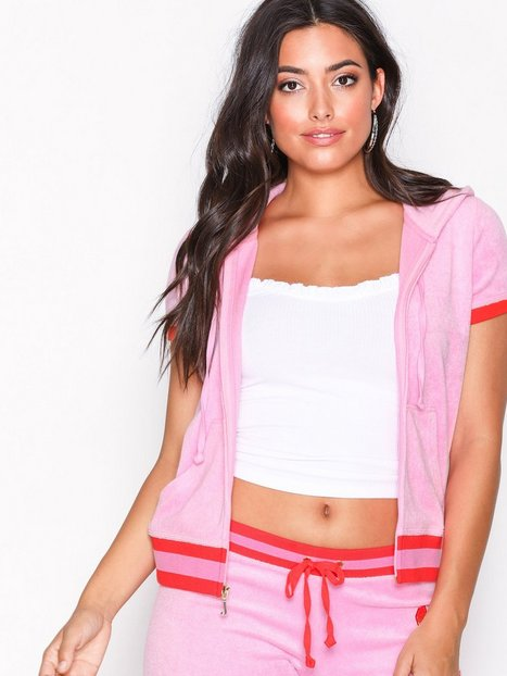 Billede af Juicy Couture Encrusted Jc Microterry Ss Robertson Cardigans Bright Pink