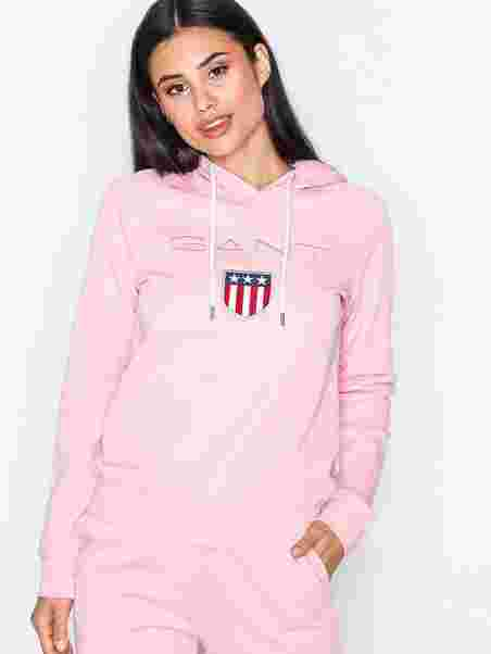 ef8121f2 Gant Shield Sweat Hoodie - Gant - Pink - Jumpers & Cardigans ...