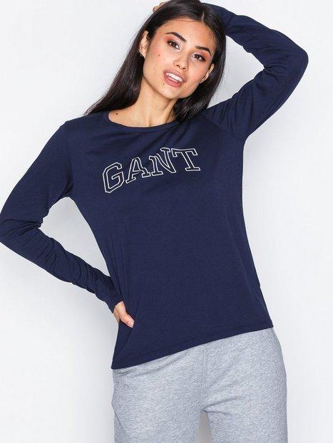 Billede af Gant O1. Arch Logo Ls T-Shirt Langærmede toppe Evening