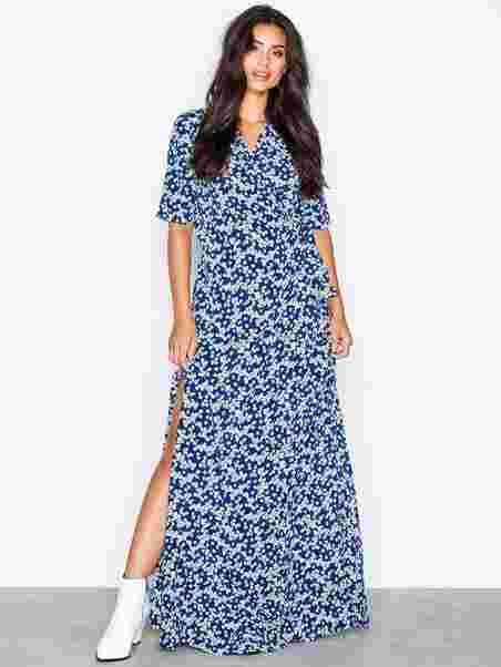a6ce223cb855 Mante L Dress Aop 10056 - Samsøe Samsøe - Blue - Dresses - Clothing ...