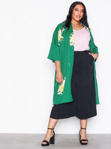 Billede af Object Collectors Item Objfanette 3/4 Kimono Dress a Sp Bluser & Skjorter Grøn