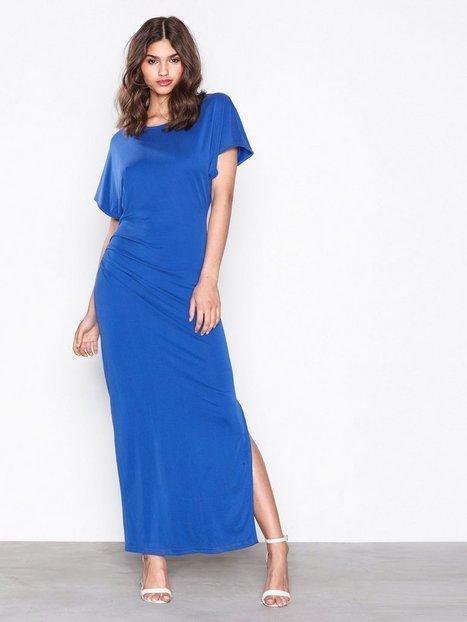 Billede af Selected Femme Sfhelen Ss Pleat Dress Maxikjoler Mørkeblå