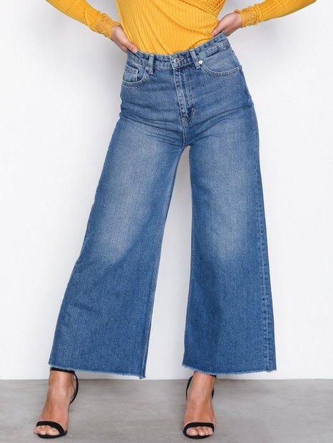 Billede af Selected Femme Sfcarry Xhr Cropped Wide Jeans J Bootcut & Flare Blå