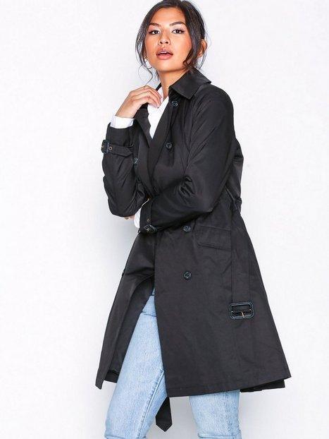 Lauren Ralph Lauren Cotton Trenchcoat Frakker Black