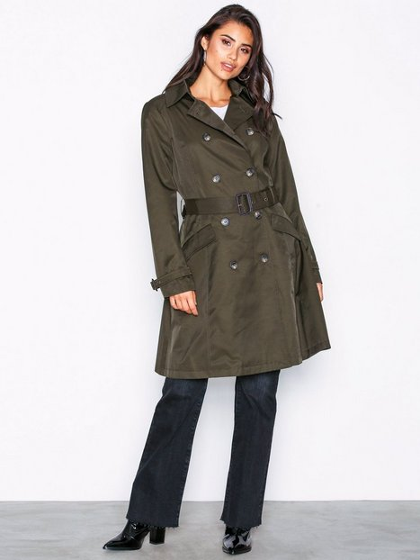 Lauren Ralph Lauren Cotton Trenchcoat Frakker Green