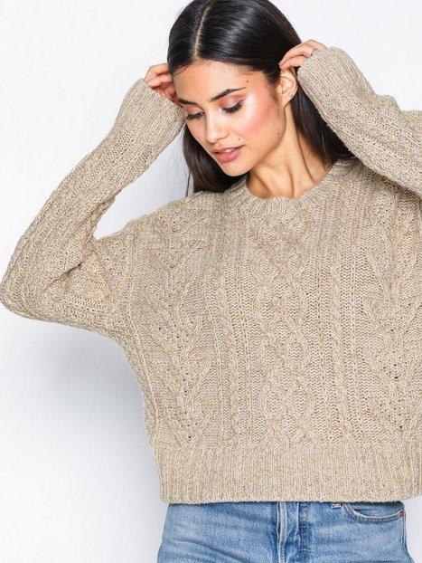 Polo Ralph Lauren Crew Neck Knit Sweater Strikkede trøjer Natural