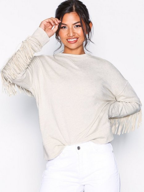 Polo Ralph Lauren Fringe Cn Po-Long Sleeve-Knit Sweatshirts Khaki