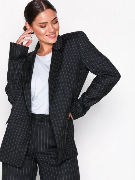 J Lindeberg Delano DB Wool Pin Blazere Black Stripe