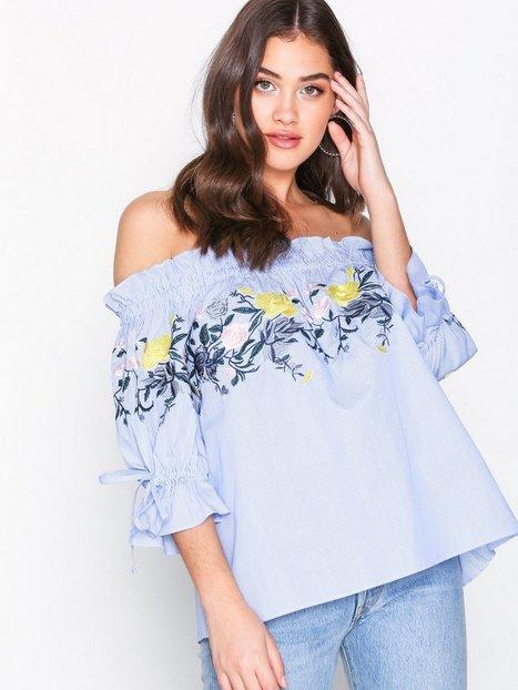 Billede af By Malina Ebony blouse Hverdagsbluser Blue