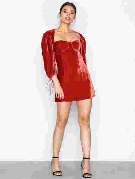 e7a730bb6a Nadine Velvet Bustier Dre - For Love   Lemons - Rust - Party Dresses ...