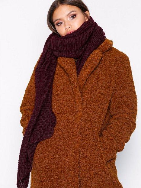 Billede af Pieces Pcdace Long Wool Scarf Noos Tørklæder Mørke Lilla