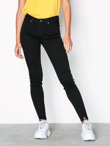 Billede af Selected Femme Slfida Mw Skinny Black Jeans W Noo Slim fit
