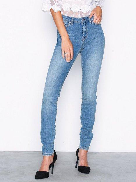 Billede af Selected Femme Slfida Mw Skinny Mid Blue Jeans W Jeans