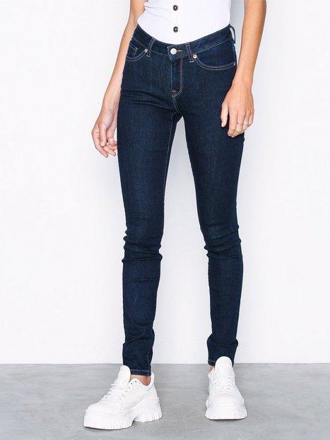 Billede af Selected Femme Slfida Mw Skinny Rinse Jeans W Noos Slim fit
