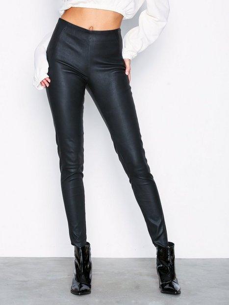 Billede af Vila Viwinny Rw Stretch Leather Legging Skind Sort