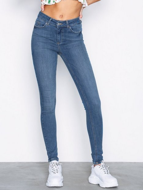 Billede af Pieces Pcdelly Mw Skn Jns B181 Mbld/Noos Jeans Blå