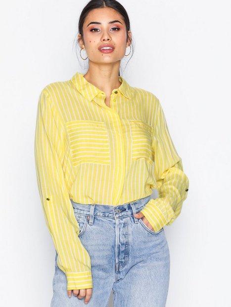 Bild på Jacqueline de Yong Jdyelaine L S Stripe Shirt Wvn Skjortor Mörk Gul f0825e1ef07dc