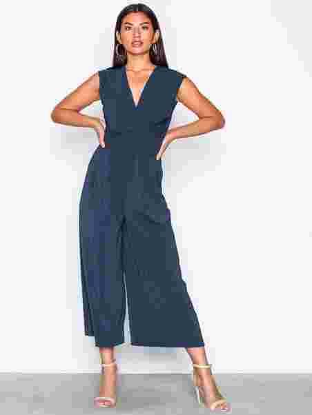 a106d1eab808 Vimelis S L Drapped Jumpsuit - Vila - Blue - Jumpsuits - Clothing ...