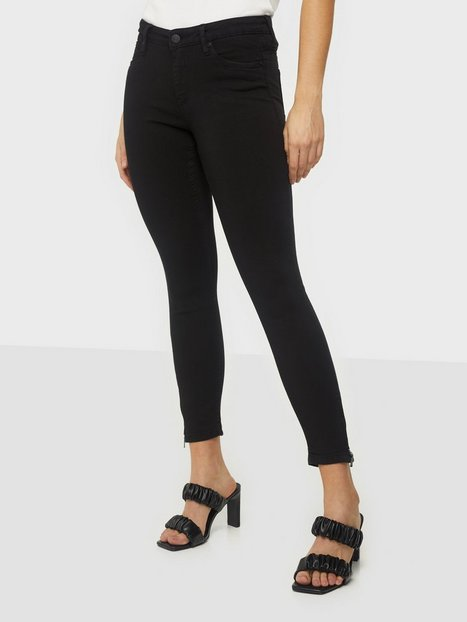 Billede af Noisy May Nmkimmy Nw Ankle Zip Jeans Black No Jeans Sort