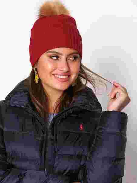 Cashmere Hat - Polo Ralph Lauren - Red - Beanies b0beca70b68