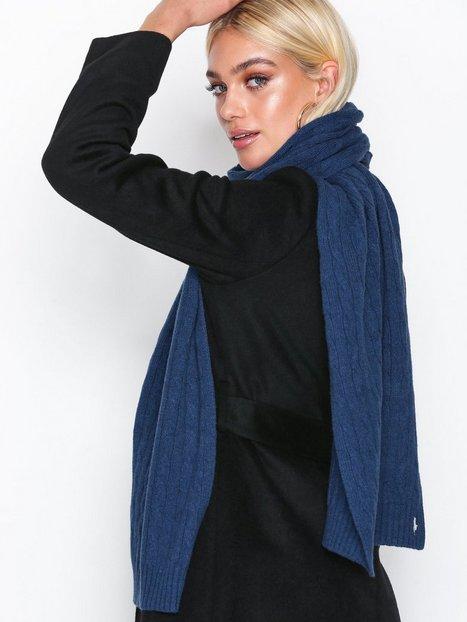 Billede af Polo Ralph Lauren Cable Wool Scarf Tørklæder Blå