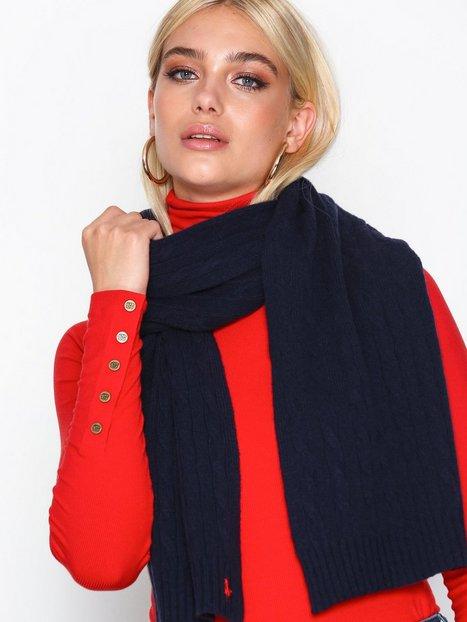 Billede af Polo Ralph Lauren Cable Wool Scarf Tørklæder Navy