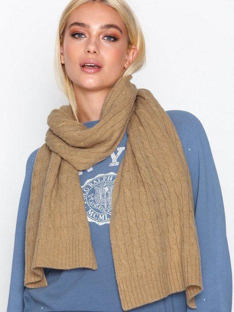 Billede af Polo Ralph Lauren Cable Wool Scarf Tørklæder Camel